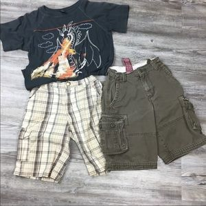 Charlie Rocket T-Shirt & Gymboree Shorts Bundle